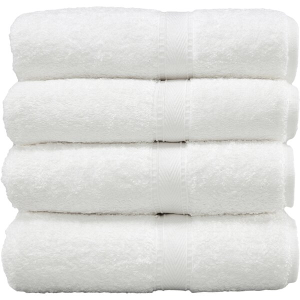 Parrett 4 Piece 100% Cotton Bath Towel Set (Set of 4) by Three Posts